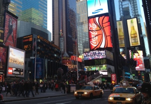 Bustling Times Square, NYC