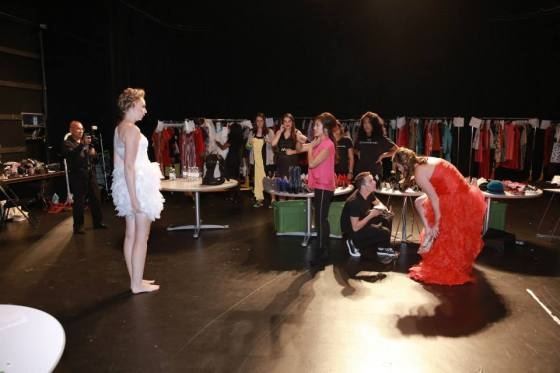 Backstage at 2013 The Fashion of Goodwill Runway Show