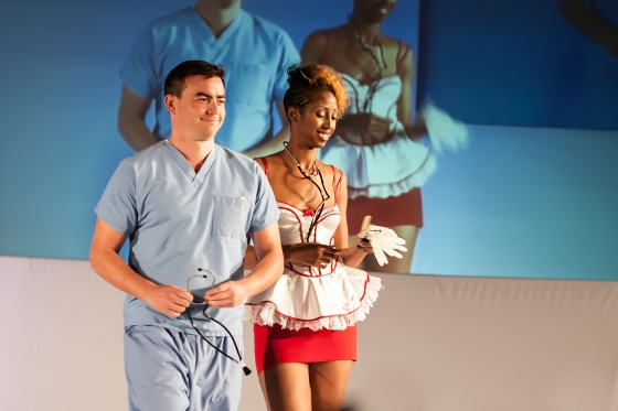 Sexy doctor and nurse.