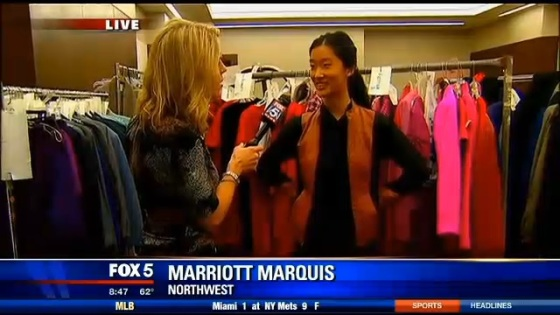Victoria Chang with Holly Morris on Fox 5
