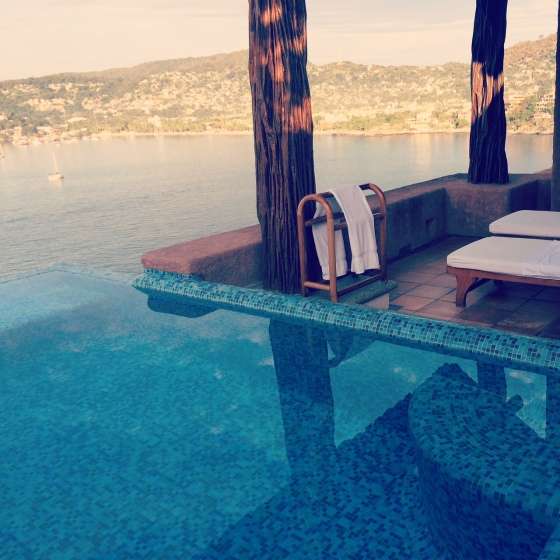 Infinity pool in my suite over looking the bay