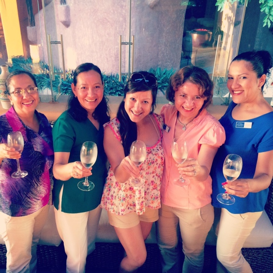 Toasting to a successful and happy 2015 with my gals at La Casa Que Canta