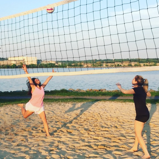 I can play Volleyball right by the water!
